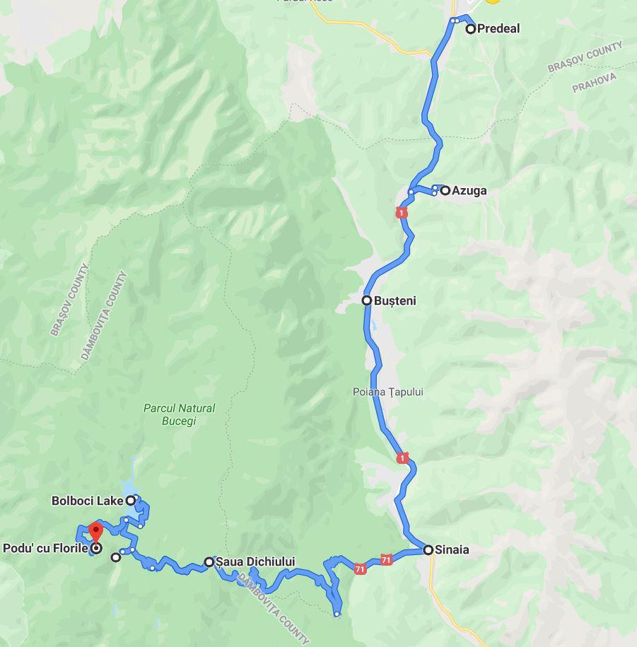 Traseul Lacul Bolboci