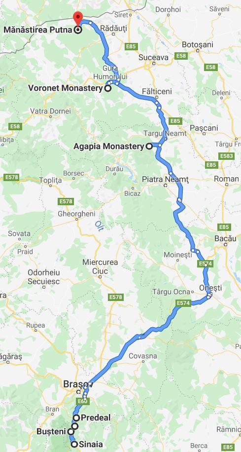 Traseul Manastirilor din Moldova